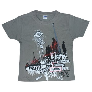 T-shirt gris Paris city graph