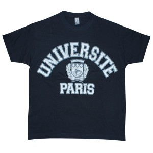 T-shirt universite Paris vintage
